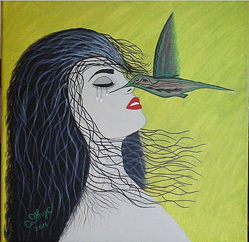 Dry My Tears Hummingbird  by Catherine Velardo