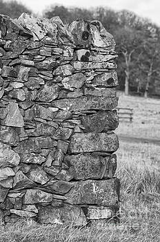 Dry stone wall in mono by Steev Stamford