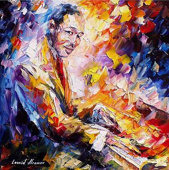 Duke Ellington - PALETTE KNIFE Oil Painting On Canvas By Leonid Afremov by Leonid Afremov