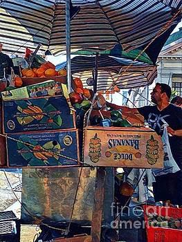 Dulce Bananas - Market Day in New York by Miriam Danar