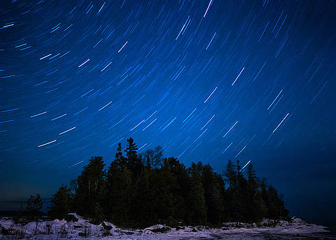 Dunks Point Star Trail by Cale Best