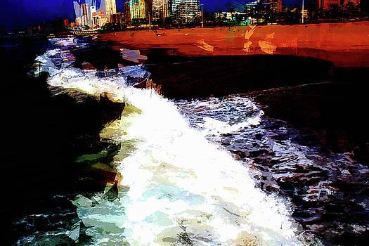 Durban beach by John Stuart Webbstock