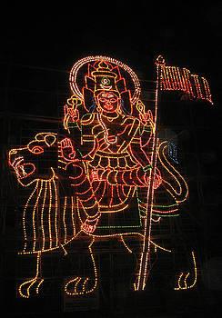 Durga Mounted on Lion by Umesh U V
