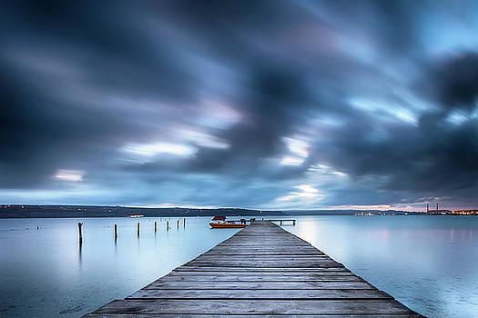 Dusk In Blue Satin by Evgeni Dinev