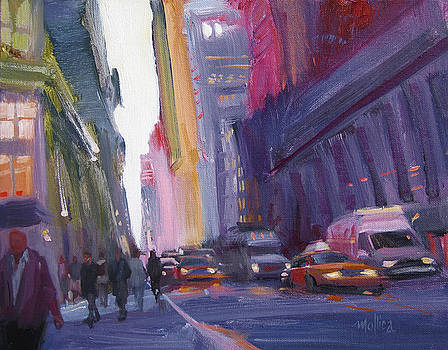 Dusk on 57th Street by Patti Mollica