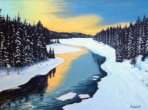 Dusk on the Grass River by Rick Gallant