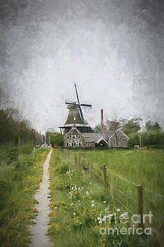 Patricia Hofmeester - Dutch landscape with mill
