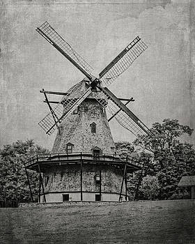 Dutch Windmill in Black and White by Emily Kay