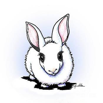 Dwarf Hotot Bunny Rabbit by Kim Niles