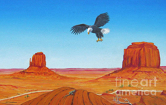 Eagle At Monument Valley by Jerome Stumphauzer