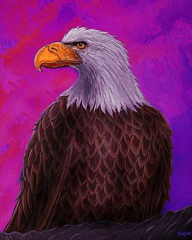 Nick Gustafson - Eagle Crimson skies