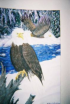 Eagles Flying Freedom by Richard Erickson
