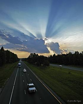 Early Evening Crepuscular Rays Over I-85 by Matt Taylor