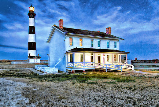 Early Evening Lighthouse by Marion Johnson