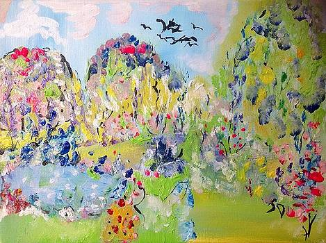 Early morning garden  by Judith Desrosiers