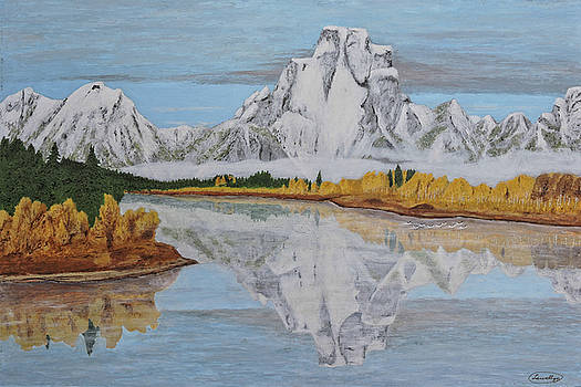 Early Snowfall at Oxbow by L J Oakes