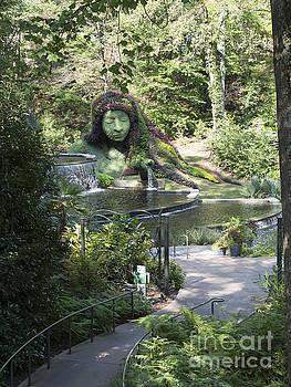 Earth Goddess mosaiculture statue at Atlanta Botanical Garden by Louise Heusinkveld