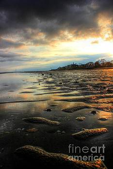 East Beach Sunset by Vicki Spindler