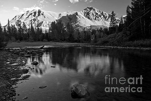 Adam Jewell - East Glacier Reflections Black And White
