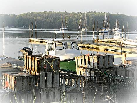 East Greenwich RI Marina 2 by Diane Valliere