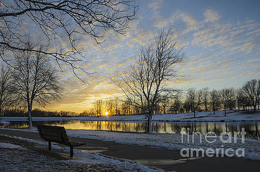 East Lake Winter Sunset by Tamara Becker
