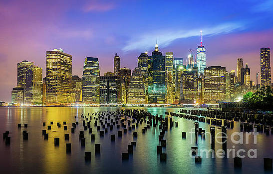 East River Pylons by Inge Johnsson