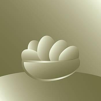 Easter golden eggs by Marinela Feier