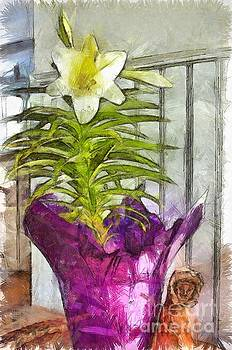 Easter Lily and Doll by Claire Bull