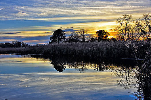 Eastern Shore Sunset - Blackwater National Wildlife Refuge - Maryland by Brendan Reals