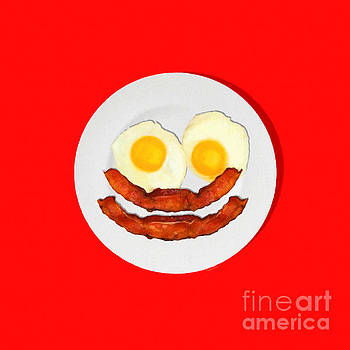 Wingsdomain Art and Photography - Eat Breakfast And Smile All Day red