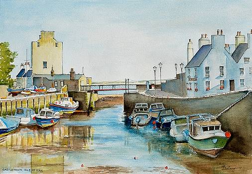 Ebb tide at Castletown Harbour by Dai Wynn