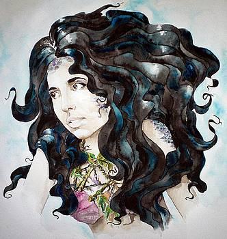 Ebony Mermaid by Theresa Higby