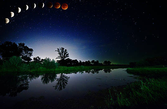 Eclipse from the Flats by Chris  Allington