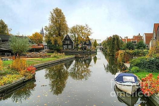 Edam Waterway In Autumn by David Birchall