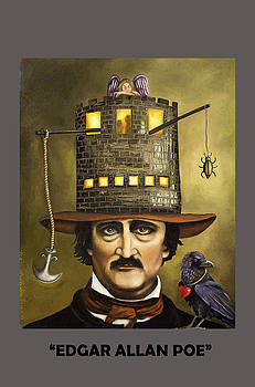 Leah Saulnier The Painting Maniac - Edgar Allan Poe with Lettering