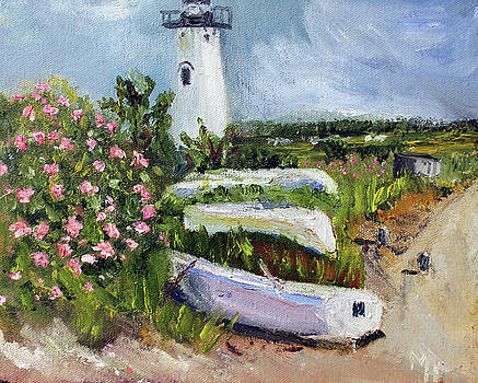 Edgartown Light and Her Entourage by Michael Helfen