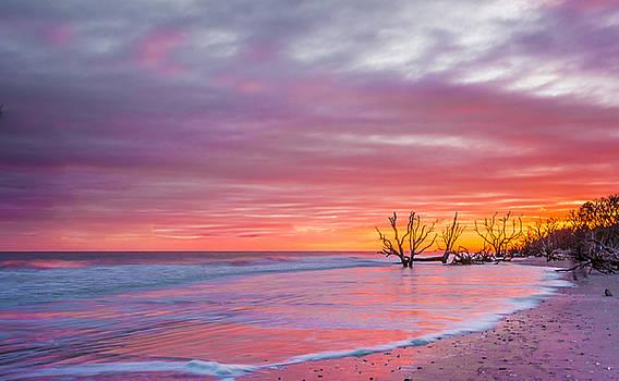 Edisto beach sunset by Riddhish Chakraborty