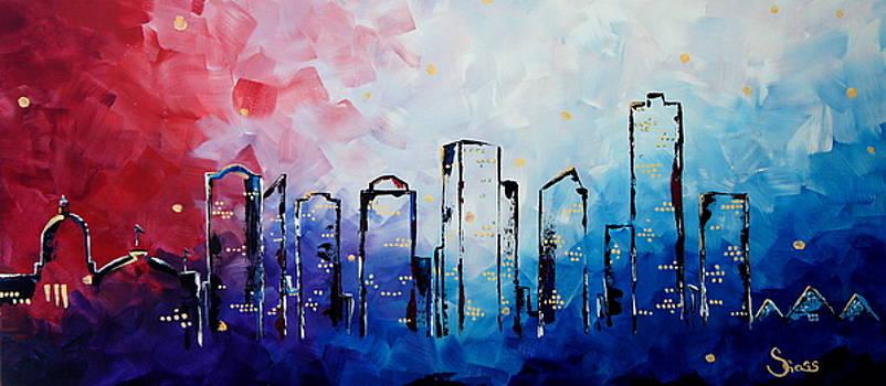 Edmonton City Skyline by Shiela Gosselin