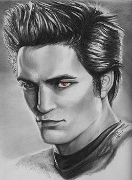 Edward Cullen of Twilight movie vampire  by Carliss Mora