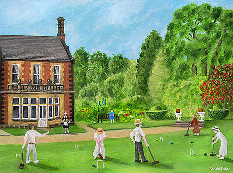 Edwardian Garden Party At Lymm Hall by Ronald Haber