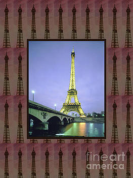 Effel Tower Paris France landmark photography tshirts pillows curtains tote bags phone cases towels by Navin Joshi