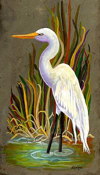 Egret by Elaine Hodges