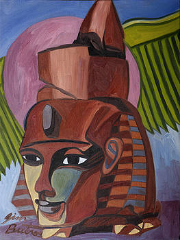 Egyptian Statue by Jimmy Butros