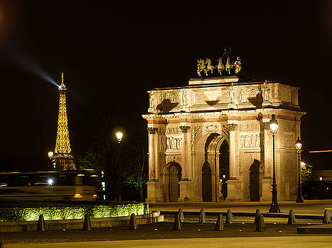 Eiffel and Arc by Mark Currier
