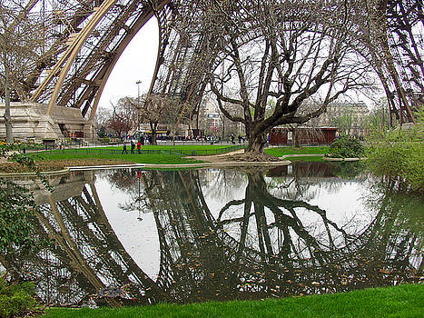 Eiffel Base Reflection by Mark Currier