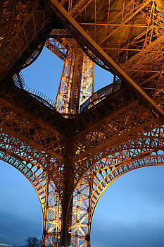 Eiffel Tower From Below by Tim Stringer