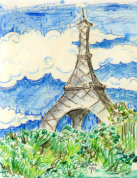 Eiffel Tower III by Suzanne Blender
