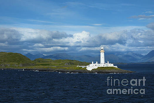 Eilean Musdile lighthouse near Oban in Scotland by Isabel Poulin