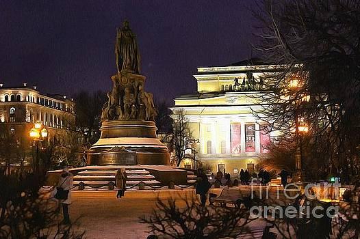 Ekaterina Monument Peterburg by Yury Bashkin