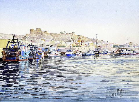 El Puerto Pesquero de Almeria by Margaret Merry